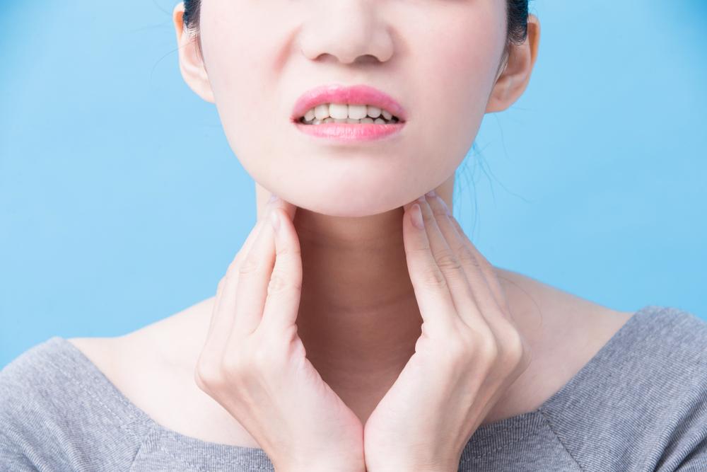 tiroid leher bengkak